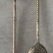 TWO HM SILVER RUSSIAN SPOONS