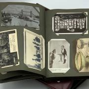 3 ALBUMS OF EARLY COLLECTORS POSTCARDS - VERY GOOD COLLECTION