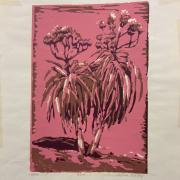 SYLVIA MALLOY SIGNED LIMITED EDITION OF SCREEN PRINT ALOE