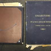 THREE PORTFOLIOS WITH VARIOUS PRINTS INCLUDING COLLECTIONS DE MR LE BARON ALFRED DE ROTHSCHILD