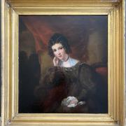 EARLY 19C - PORTRAIT 34CM X 36CM - VERY GOOD CONDITION - BEEN RE-LINED