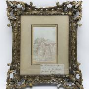 ATTRIBUTED TO JOHN CONSTABLE (1776-1837) WATERCOLOUR SKETCH OF PAXHILL PARK HOUSE, SUSSEX MEDIUM