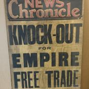 TWO WW2 ITEMS - BOARD PRINTS, NEWS CHRONICLE & DAILY NEWS