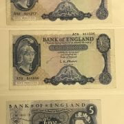 THREE EARLY 5 POUND BANKNOTES