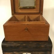 HUMIDOR WITH CONTENTS & CIGARS ALONG WITH A ROSEWOOD BOX & CONTENTS