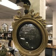 EARLY GILT MIRROR WITH EAGLE MOTIF