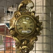 GILT WALL CLOCK