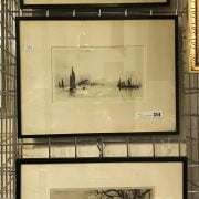3 FRAMED ETCHINGS SIGNED BY VARIOUS ARTISTS