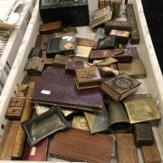 QTY EARLY MINIATURE BOXES & OTHER INTERESTING ITEMS