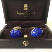 ASPREYS BOXED HM SILVER CUFFLINKS