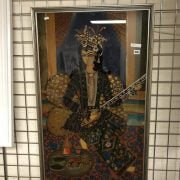 PERSIAN PICTURE PAINTED ON GLASS