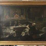OIL ON CANVAS - COURT OF APPEAL SIGNED GLORIA JARVIS & HAS ACCOMPANYING PHOTOGRAPH