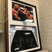 FRAMED, SIGNED & AUTHENTICATED MIKE TYSON LONSDALE BOXING PRESENTATION