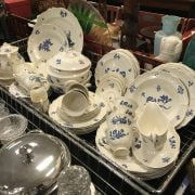 WEDGWOOD TEA/ DINNER SERVICE WITH SOME SPODE CHINA