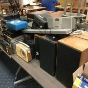 LARGE COLLECTION OF STEREO EQUIPMENT - MAIN LOT ON TABLE