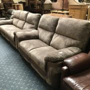 3 & 2 SOFAHOUSE RECLINER SUITE - BROWN