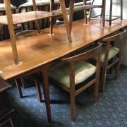 TEAK DINING TABLE & 4 CHAIRS
