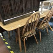 ERCOL DINING TABLE & FOUR CHAIRS