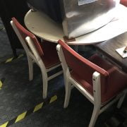 1950'S TABLE & FOUR CHAIRS