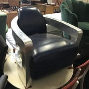 BLUE LEATHER AVIATOR CHAIR