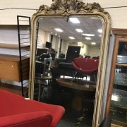 EARLY 19C MIRROR WITH MERCURY GLASS