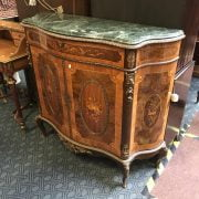 MARBLE TOP FRENCH STYLE CABINET