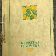 KENSITAS FLOWERS COLLECTORS CIGARETTE EMBROIDERED CARDS/ SILKS