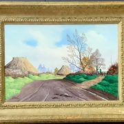 OIL ON CANVAS SIGNED BY TRISTRAM HILLIER , TITLED AUTUMN DAY. HAS BEEN RE-LINED - APPROX 32CM X 23 (INNER FRAME) GOOD CONDITION NO OBVIOUS SIGNS OF DAMAGE
