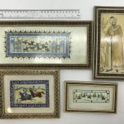FOUR SMALL FRAMED PERSIAN PICTURES