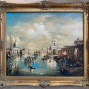 FOLLOWER OF FRANCO GUARDI 1712-1793 OIL ON CANVAS ''VENETIAN VERDUTA''