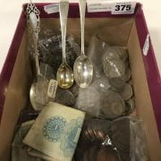 SILVER SPOONS, SILVER COINS & OTHER COINS
