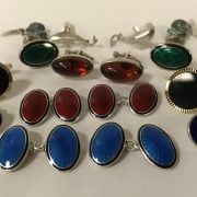 8 PAIRS OF CUFFLINKS - SOME SILVER