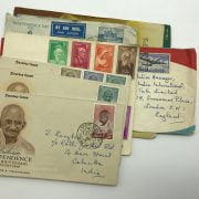 SMALL GROUP OF INDIAN STAMPS/ ENVELOPES
