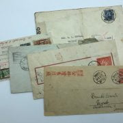 EARLY ENVELOPES WITH STAMPS (6)