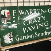 ENAMEL SIGN - CRAZY PAVING
