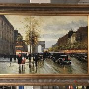 OIL ON CANVAS OF PARIS SCENE SIGNED LACOSTE