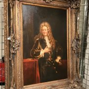LARGE GILT FRAMED PICTURE OF NOBLE GENTLEMAN