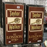 PAIR EARLY ENAMEL PUB SIGNS - TAYLOR WALKER