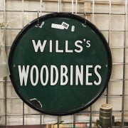 WILLS WOODBINE - ENAMEL SIGN