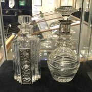 H/M SILVER DECANTER & 1 OTHER