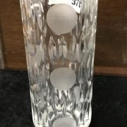 DANISH SILVER & CUT GLASS 1960'S VASE