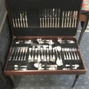 12 PIECE SET KINGS PATTERN CUTLERY - 4 KNIVES MISSING