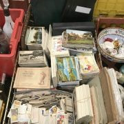 COLLECTION OF POSTCARDS, TEACARDS ETC