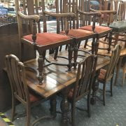 DRAWLEAF TABLE & 6 CHAIRS