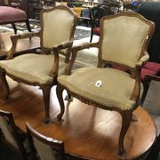PAIR OF ELBOW CHAIRS
