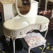 KIDNEY DRESSING TABLE & STOOL