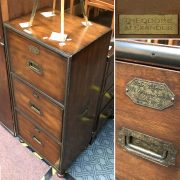 MILITARY THREE DRAWER CHEST - THEODORE ALEXANDER