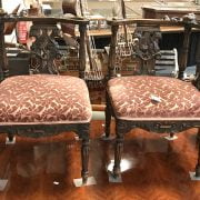 PAIR OF CARVED CORNER CHAIRS