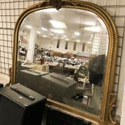 GILT OVER MANTLE MIRROR