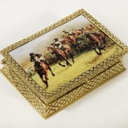 GOLD PLATED PILL BOX WITH ENAMEL